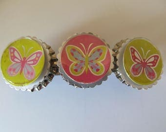Butterfly Bottle Cap Barrette, Birthday Gift, Gifts for her, Gifts for girls, Gifts for teens,Bottle Cap Barrette,Hair Accessories,Hair Clip