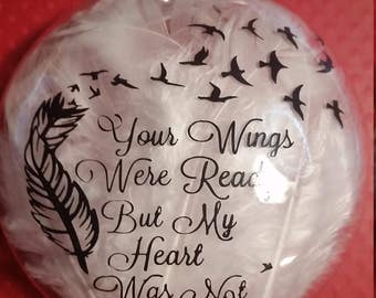 Personalized Memorial Ornament Sympathy Ornament,Remembrance Ornament, Angel Feather Memorial Ornament