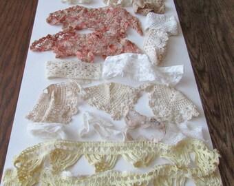 Lot Vintage Lace 16 Pieces Vintage Lace Trim Crochet Trim