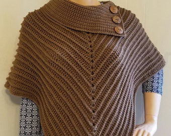 Crochet the Classy Cowl Poncho Pattern One Size Fits Most  DIGITAL DOWNLOAD ONLY