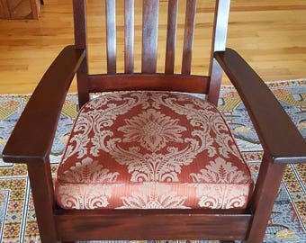 Arts and Crafts, Mission Stickley Mahogany Rocking Chair