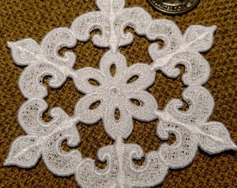 Fleur de Lis Snowflake Christmas Ornament - 4