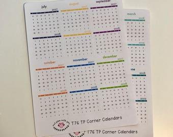T76 || 12 Month Corner Calendars