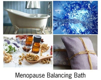 Menopause Balancing Bath, Natural Menopause Bath, Help Calm the Symptoms of Menopause -- 10oz Bag