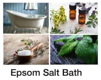 Epsom Salt Bath - Epsom Bath Salts With %100 Pure Essential Oils