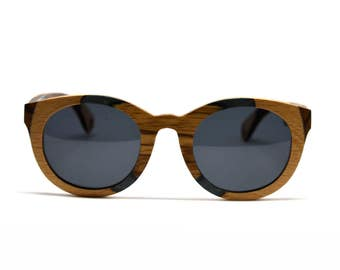 Wood Sunglasses Multi Color Stained Wood Grain Camouflage Camo Womens Sunglasses Mens Sunglasses Skateboard Wood RX Glasses Wooden Glasses