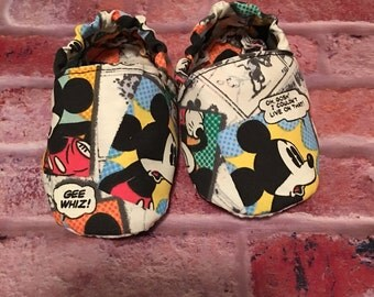 Baby soft shoes mouse comic 6-12 months