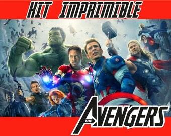 Kit printable Avengers, fully editable, Changeable kit printable