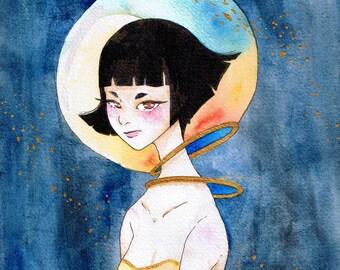 Astro - Watercolour space art print