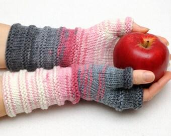 Clothing Accessories Gloves Mittens Winter Gloves Arm Warmers Long Knit Fingerless gloves Women gift ideas fingerless mitten Girlfriend Gift