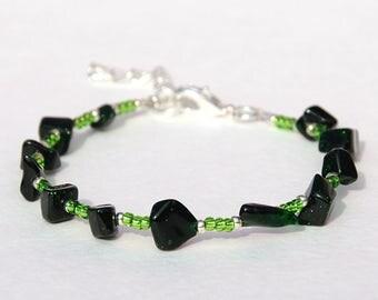 Green Aventurine bracelet Beaded bracelet Bohemian bracelet Bohemian jewelry womens bracelet Aventurine chips bracelet aventurine jewelry
