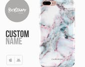 Marble Phone case Personalised iPhone 7 6 6s Plus samsung Galaxy S8 5S SE custom white case personalized Galaxy S6 S7 S5 monogram