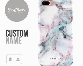 Marble Phone case, Personalised iPhone 7, 6, 6s Plus, samsung Galaxy S8, 5S, SE custom white case, personalized Galaxy S6, S7, S5 monogram