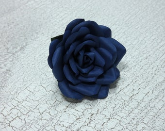 Buttonhole Boutonnière Pin Midnight Navy Groom Groomsmen Best Man Wedding Flowers - other colour/paper options & matching bouquet available