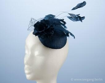 Fascinator Blue Satin Vintage Outfit