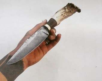 Deer antler knife