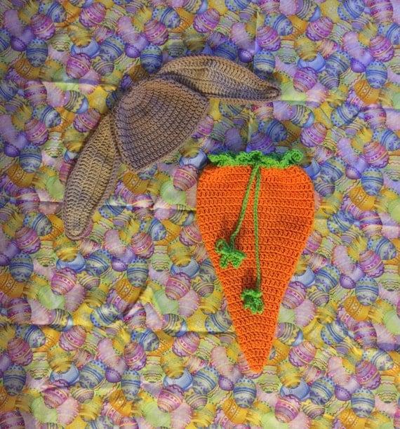 Free Crochet Carrot Cocoon Pattern : Crochet baby bunny outfit carrot cocoon easter outfit baby