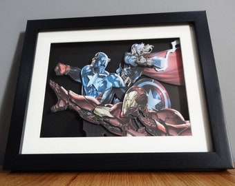 "The Avengers 8x10"" Shadow Box"