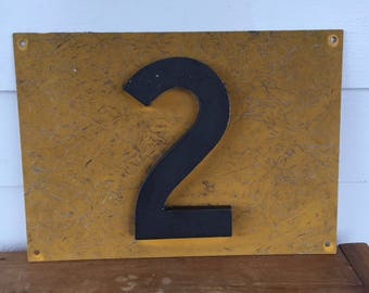 Fiberglass and Metal Railroad Sign Number Two