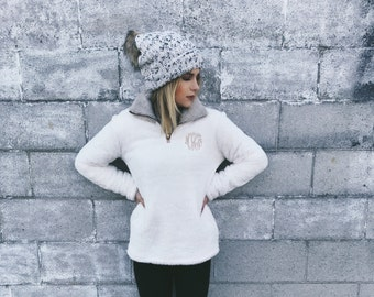 SALE - Monogrammed Cozy Fleece Pullover