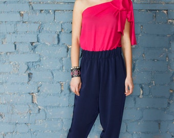 Jumpsuit fucsia/jumpsuit blue/women jumpsuit/pantsuit