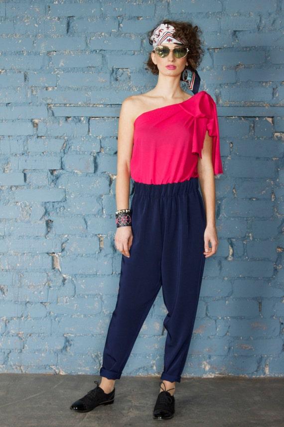 Jumpsuit fucsia/jumpsuit blue/women jumpsuit/pantsuit