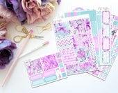 Key -- Horizontal Weekly Kit-- Matte Planner Stickers