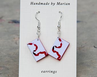 Twilight mini book earrings Eclipse