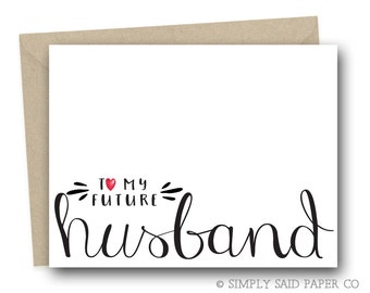 To my future husband - wedding day card, to my husband, wedding stationary, for my husband, on my wedding day