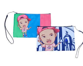 Fresh Prince Of Bel Air Will Smith Clutch Cosmetic Bag - Perfect Travel Bag Wristlet Gift For Her