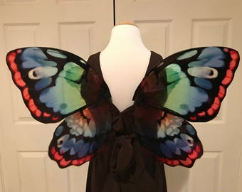 Multicolored fairy wings OOAK