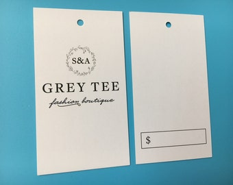 200 Custom Hang tags, Custom Swing tags, Custom swing tickets, Garment tags, Clothing label tags