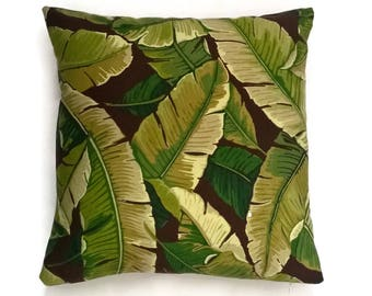 SALE - Outdoor decorative pillow cover ( Solarium Outdoor) Jungle forest - Free Shipping