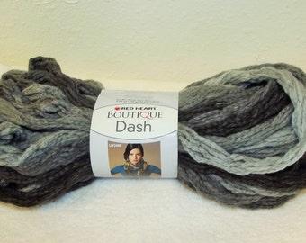 Red Heart Boutique Dash Yarn Graphite, Braided Yarn, Arm Knitting Yarn, One Skein Scarf Yarn