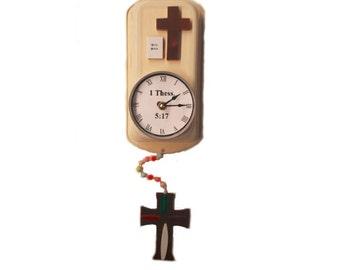 Handmade Cross/Religous Clock
