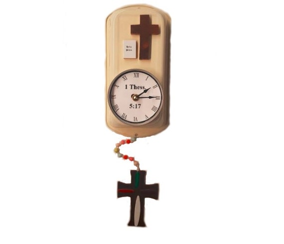 Handmade Cross/Religous Clock