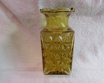 Amber Glass Textured Vase
