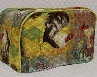 Hippie Rooster 4 Slice Toaster Cover