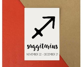 Saggitarius Zodiac Star Sign Astrology Print