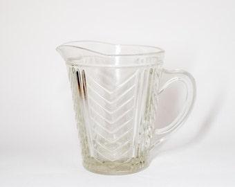 Retro Water Jug Pitcher - Yellow BBQ Drinkware 1950's Geometric Glass
