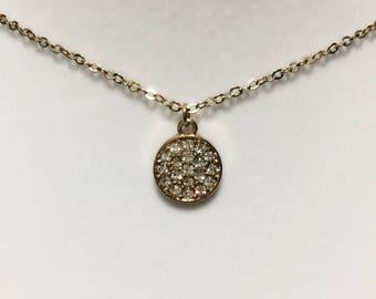 dainty gold crystal chain