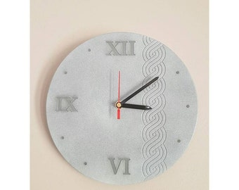 wall clock with Croatian pleter design, Croatian clock