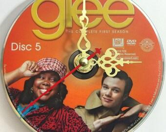 DVD Clock Glee Season 1 Disc 5 Mercedes Jones Kurt Hummel Handmade Clock FREE U.S. SHIPPING