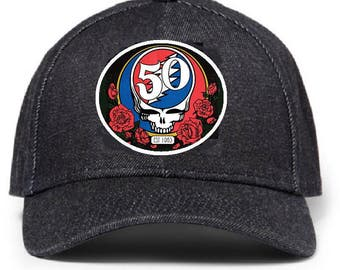 Nice 50th Anniversary Grateful Dead Baseball Hat #215. HIGH QUALITY!