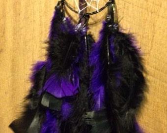 Native Purple and black 2 1/2 ring dream catcher