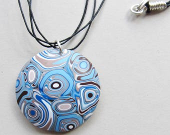 Blue Circles Pendant Necklace (#0012)
