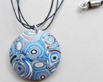 Blue Circles Pendant Necklace (#0012)