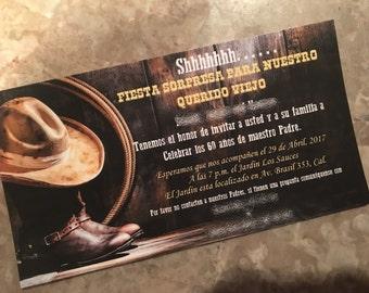 Cowboy Themed Invitaion (Spanish)