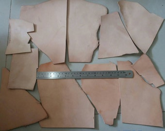 1lb. (500g), Leather Scraps, Vegetable Tanned Leather, Tooling Leather, DIY Project.