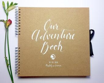 Medium Kraft scrapbook, guest book, baby book, travel journal, adventure book, gift